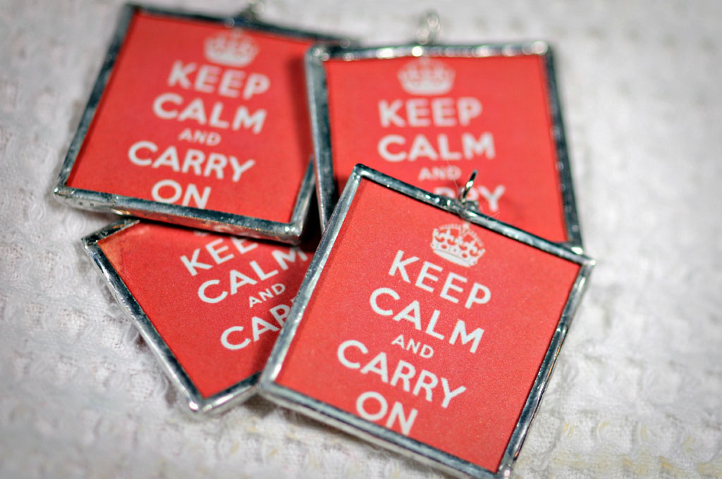 Keep Calm Pendants