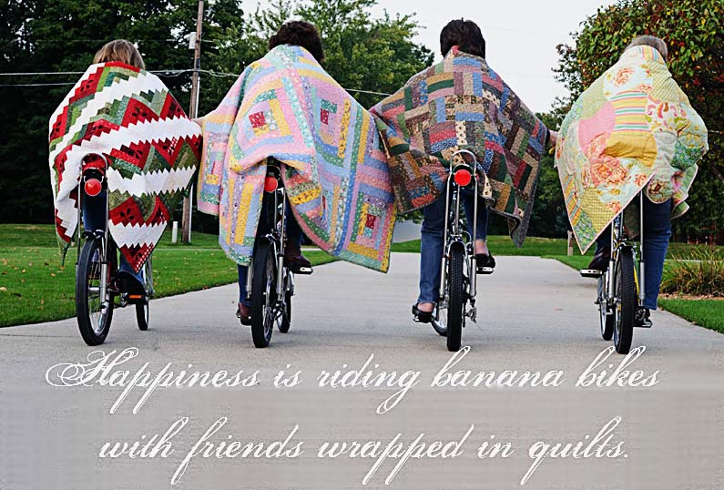 Thimbleanna: Quilters on Bikes